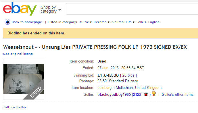 Unsung Lies on eBay 2013