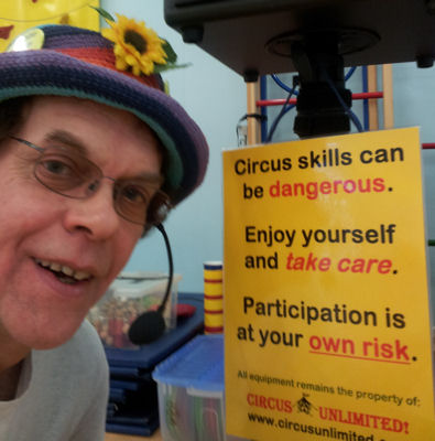Julian the Juggler runs Circus Skills Workshops